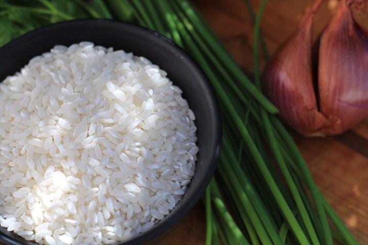 Arborio Rice And Chives for Risotto Recipe