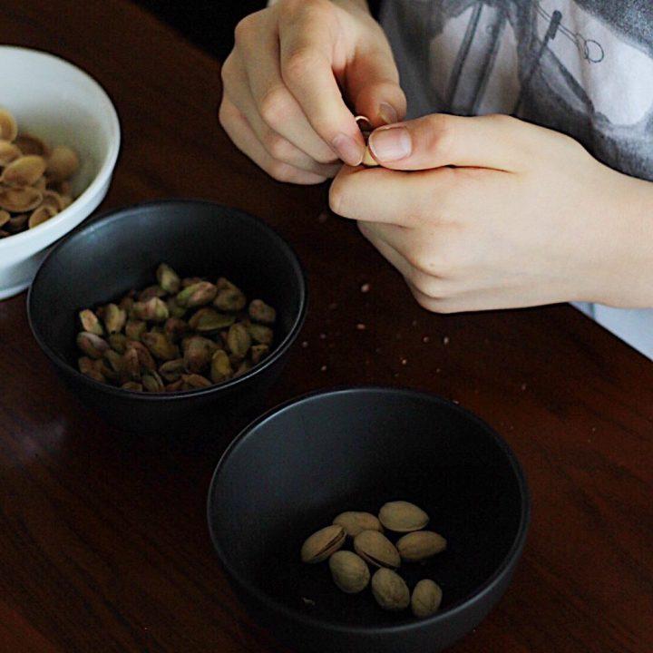 My Kids Shelling Pistachio Nuts For Vegan Dairy Free Pesto