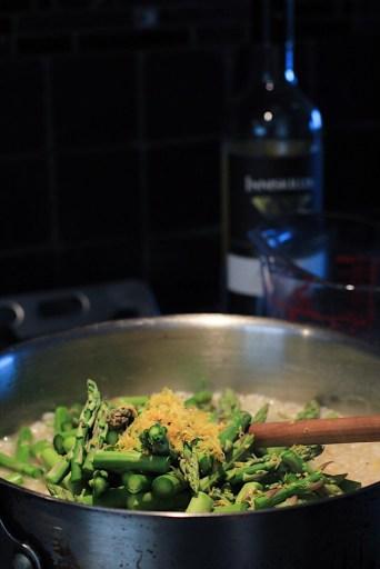 Adding Lemon Zest To Asparagus Risotto