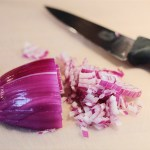 Chopping Red Onion