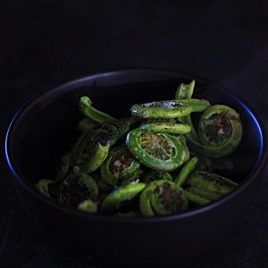 Stirfried Asian Flavored Fiddleheads