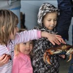 Kids and Dungeness Crab