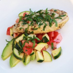 Easy Summer Dinner-Grilled Chicken And Salad