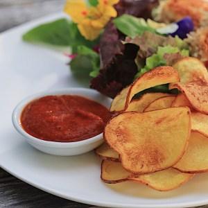 "Homemade Potato Chips and ""Ketchup"""