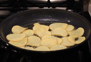 Frying Potatoes for Chips