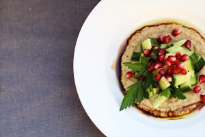 Roasted Eggplant and Cucumber Salad