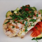 Grilled Chicken and Zucchini Tomato Salad