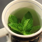 Fresh Peppermint Tea Brewing