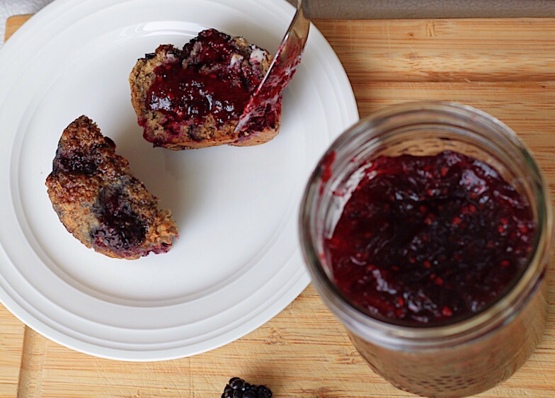 Blackberry Apple Jam-Makes 1 jar, no canning required!