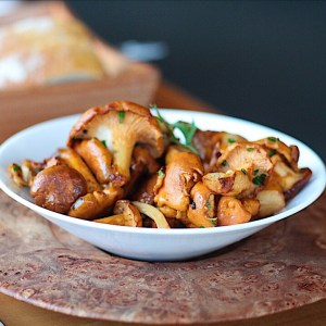 Simple Chanterelle Mushrooms At The Pointe Restaurant At Wickaninnish