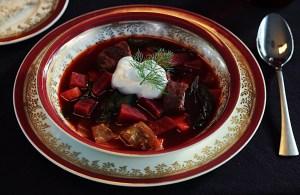 Ukrainian Beet Borscht With Beef