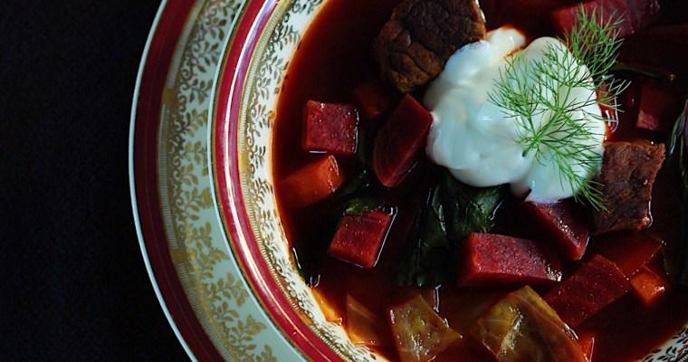Beet Borscht Inspired By Grandma's China