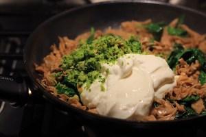 Sour Cream Parsley and Wild Mushrooms