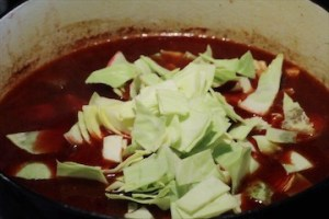Add The Cabbage And Beets Near The End
