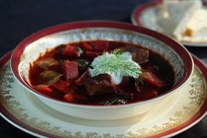 Traditional Ukrainian Beet Borscht
