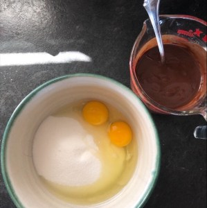 Eggs, Sugar And Chocolate For Brownies