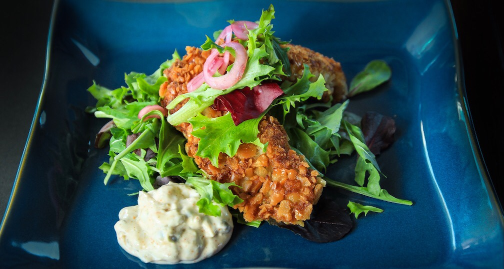 Crispy Pan Fried Oysters With Lemon Caper Aioli