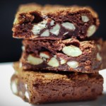 Chewy Chocolate Almond Brownies