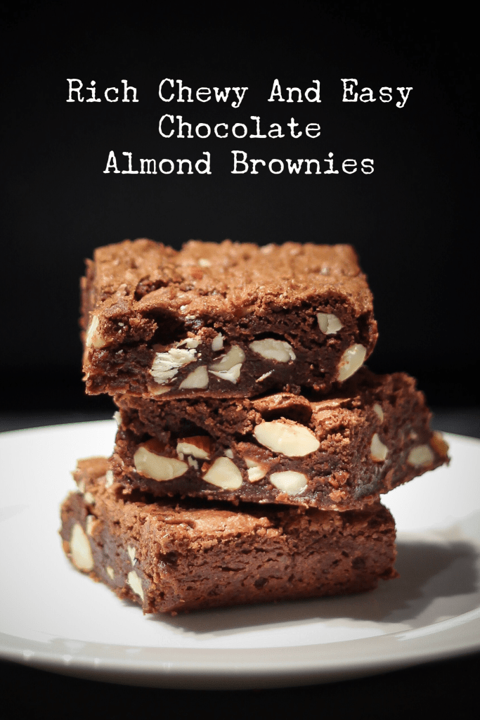 Rich Chocolaty One-Bowl Chocolate Almond Brownies