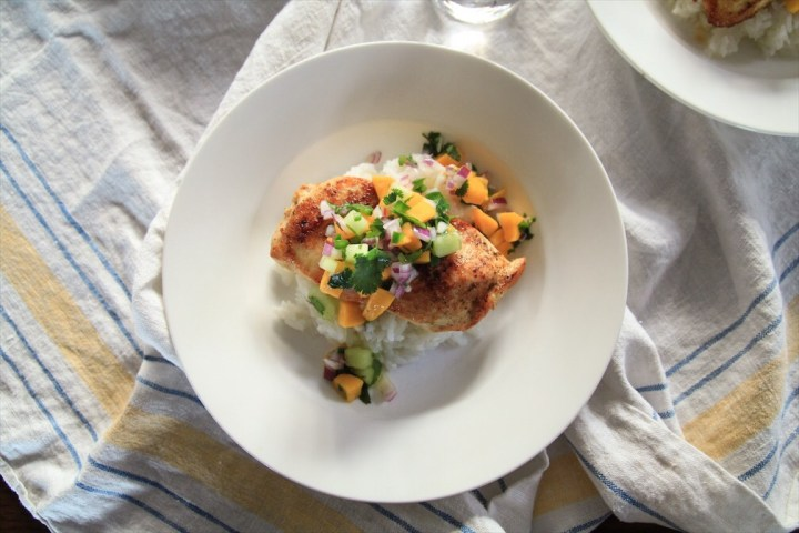 Grilled Chicken And Fruit Salsa
