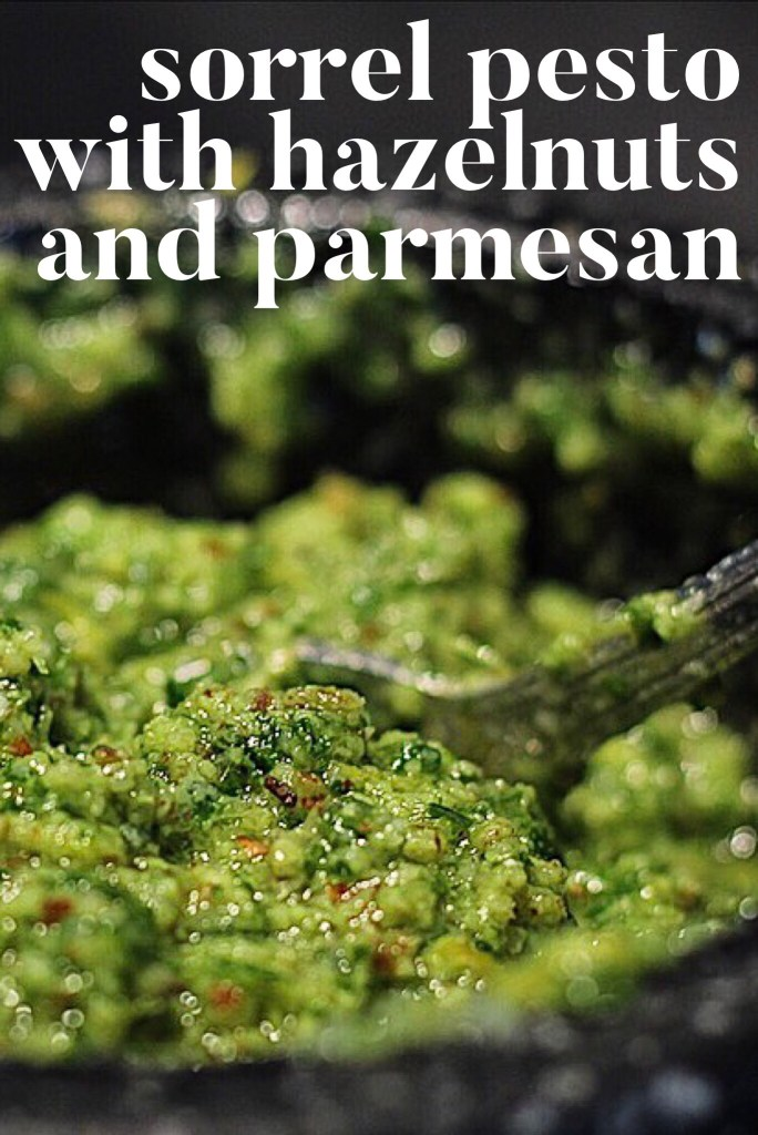 Sorrel Pesto With Hazelnuts And Parmesan