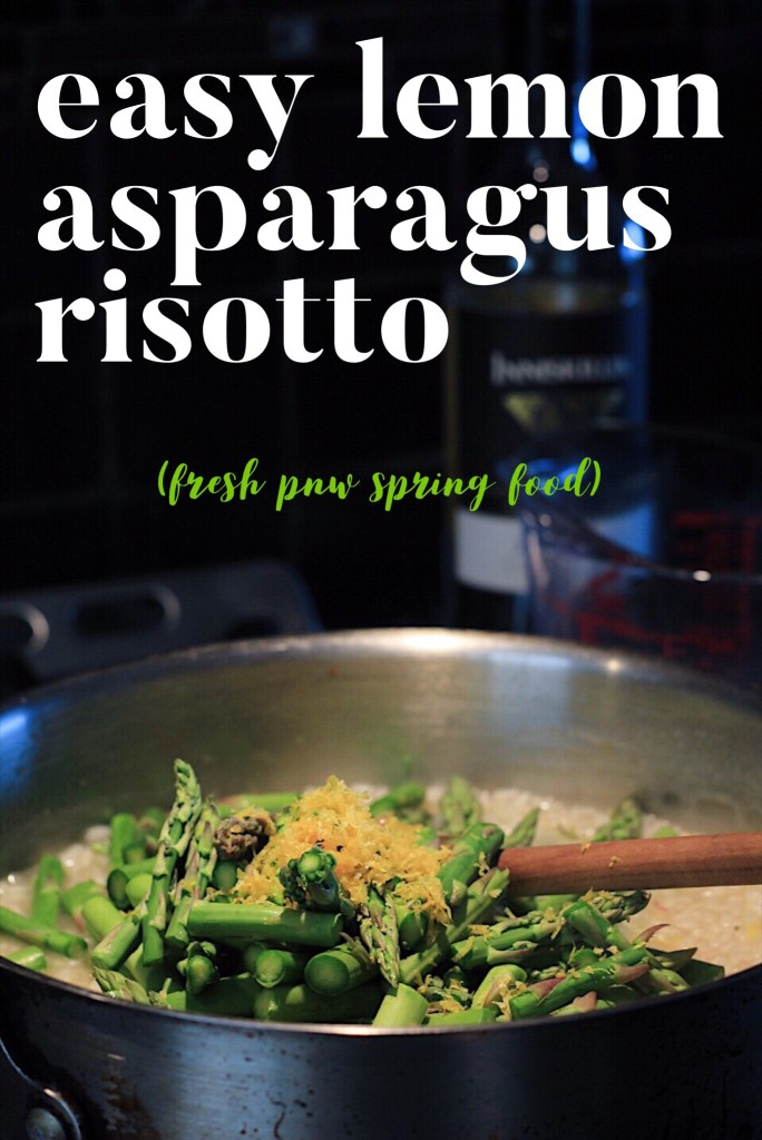 Lemon Asparagus Risotto- A Perfect Vegetarian Spring Meal