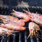 Simple Grilled Peel And Eat Prawns (Shrimp) With Garlic Lemon And Parsley Butter