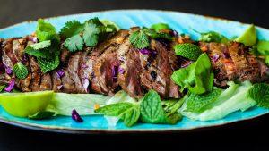 Slice Flank Steak Across The Grain To Keep It Tender