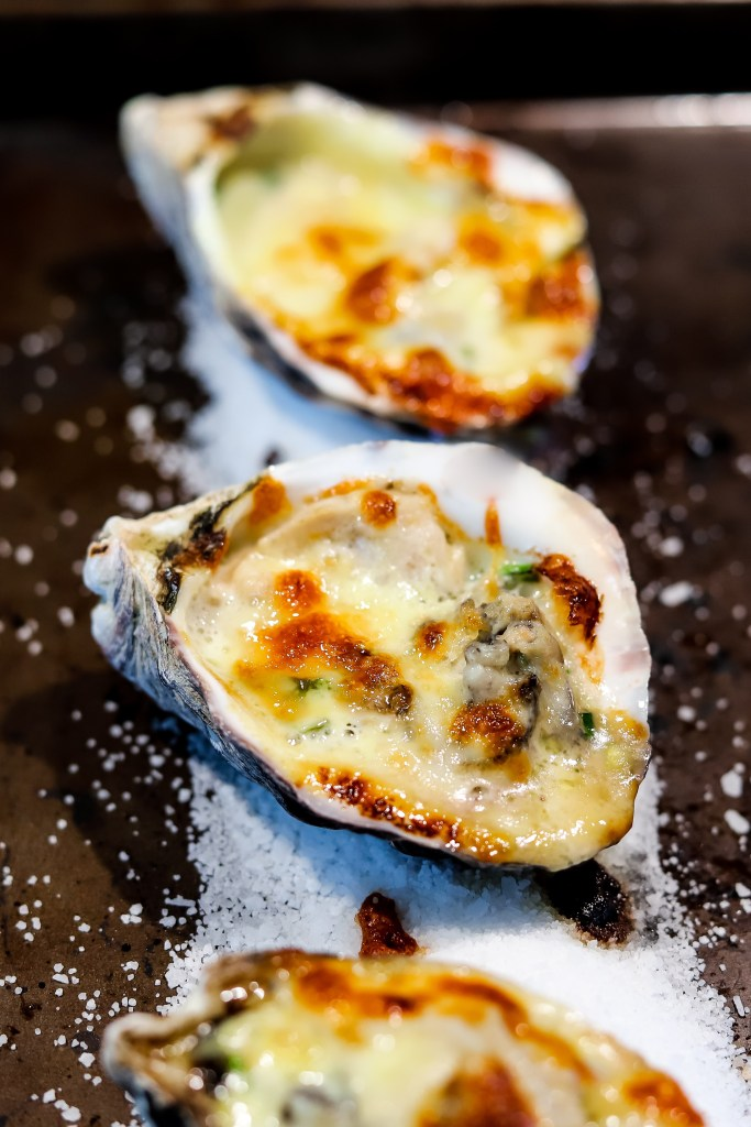 Bubbly Baked Oysters Japanese Style Recipe