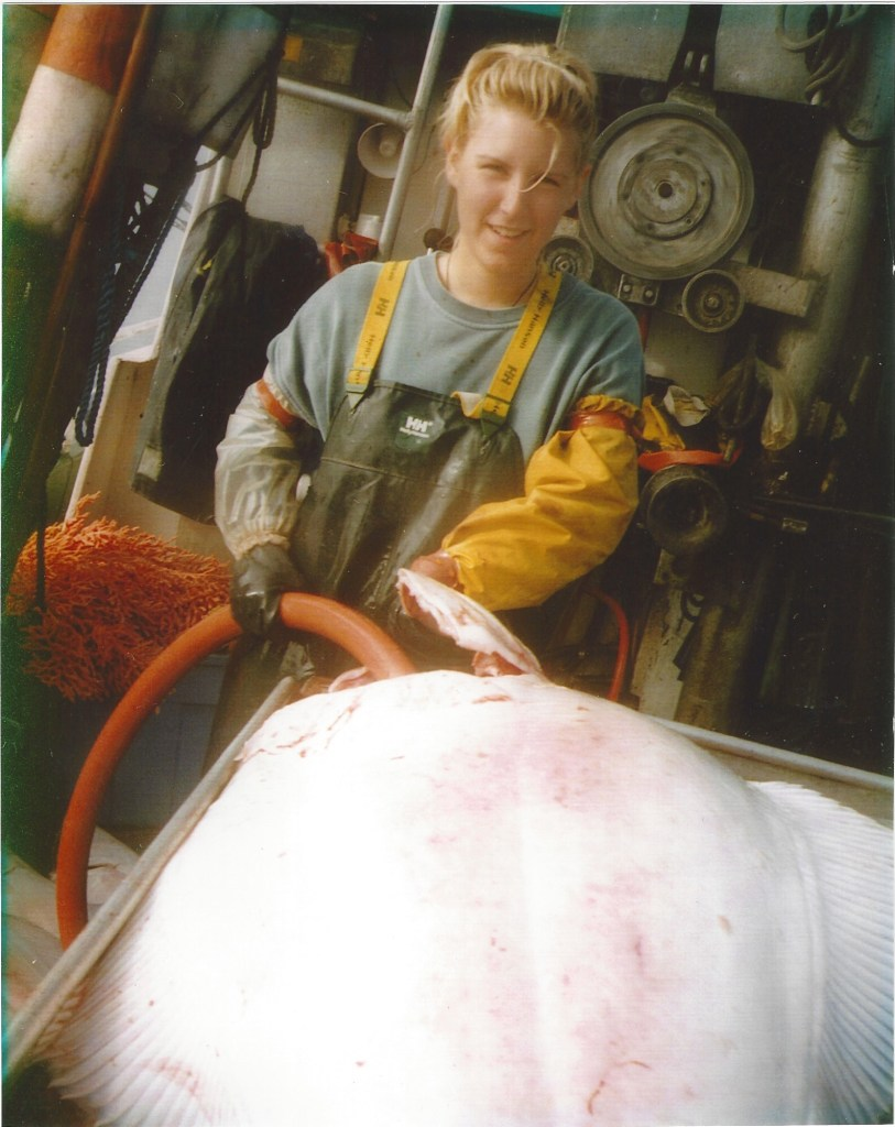 Sabrina Halibut Fishing In BC (Circa Sometime in the 1990's)