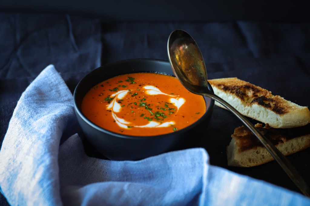 Fire Roasted Sweet Peppers From Sardo Make This Soup Easy And Delicious