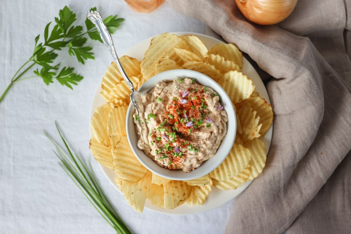 The Best Caramelized Onion And Blue Cheese Dip Ever!