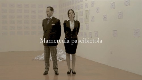 """Artista: Sabrina D'Alessandro, titolo: """"Esempio di ingiurie in una redamazione rimpedulata"""", anno 2011, URPS, Ufficio Resurrezione Parole Smarrite, Dipartimento Rinascita Psicovocale"""