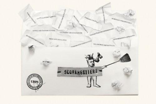 """Sabrina D'Alessandro, """"Scopamestieri"""", Buste dipinte, Festival delle Lettere, Spazio Oberdan, Milano 2011"""