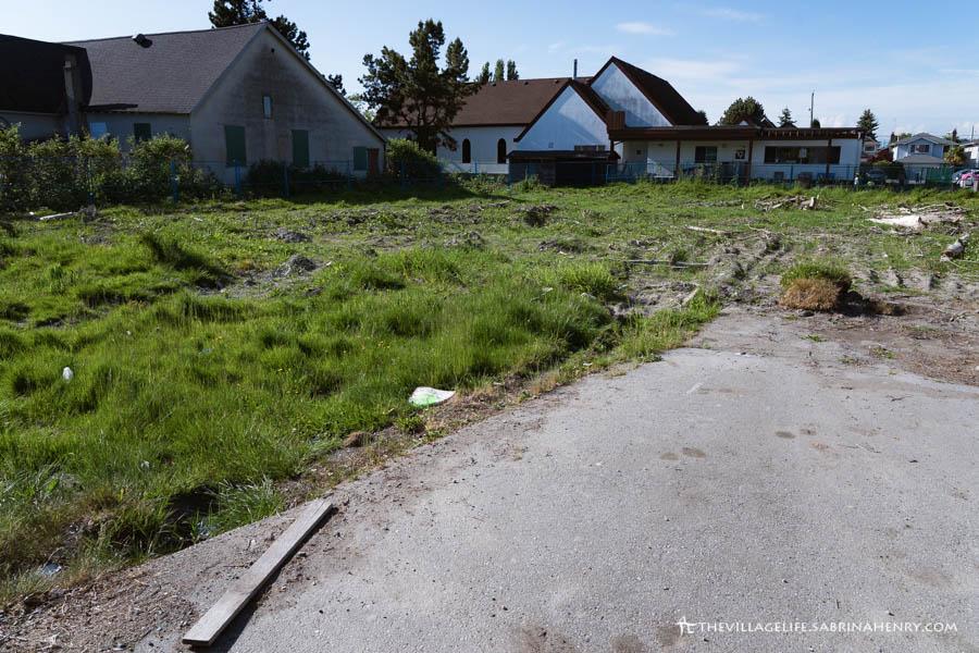 Empty lot on Chatham in Steveston Village