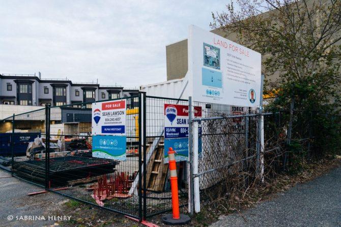 Potential site for redevelopment in Steveston