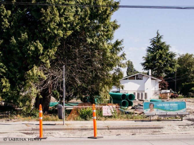 Corner of Moncton and No. 2 Road redevelopment in Steveston Village