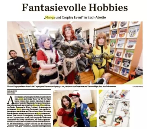 Fantasievolle Hobbies @ Escher Bibliothéik Lëtzebuerger Journal 29/04/16 - Interview Jeff Karier ​