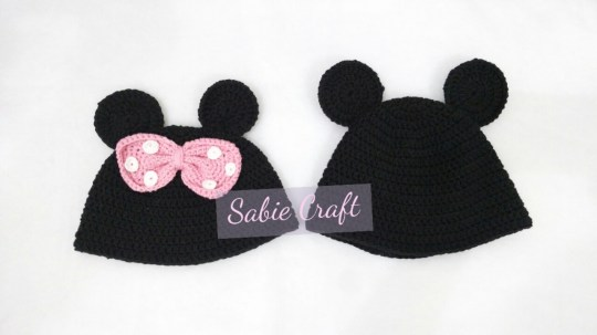 Minne & Mickey Mouse Beanie for 3-4 yo child