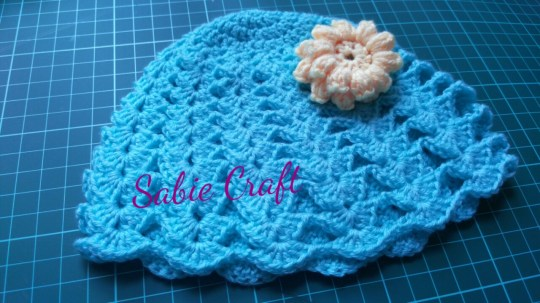 Beanie for baby girl 3-8 mo