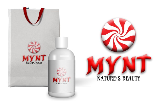 Mynt Bottle and Bag Logo Design