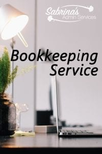 Bookkeeping services from Sabrina's Admin Services