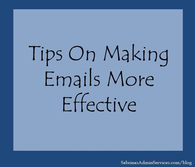 Tips on Making Emails More Effective