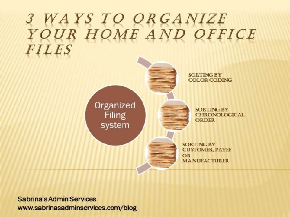 3 ways to organize your home and office files