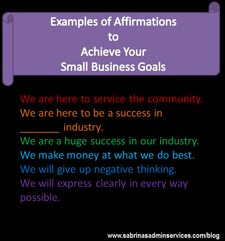 affirmation examples goals