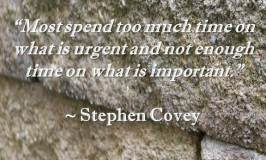 time quote by Stephen Covey
