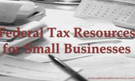 Federal Tax Resources for Small Businesses