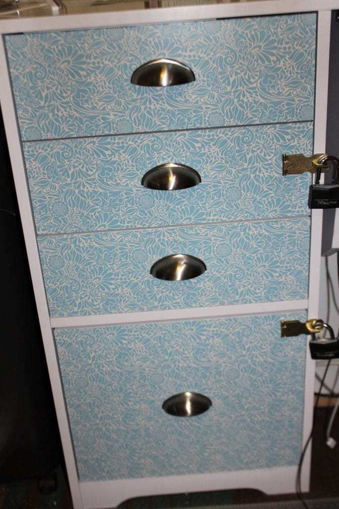 After photo of filing cabinet