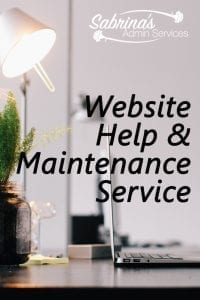Website Help and Maintenance by Sabrina's Admin Services