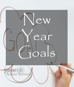 new year goals - Sabrina's Admin Services